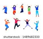collection of children  pupils... | Shutterstock .eps vector #1489682333