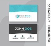 modern creative business card... | Shutterstock .eps vector #1489695920