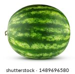 Watermelon Isolated On A White...
