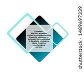 headline sign. headliner speech ... | Shutterstock .eps vector #1489697339