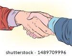 illustration of a friendly...   Shutterstock .eps vector #1489709996