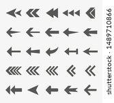 arrow icon set. vector... | Shutterstock .eps vector #1489710866