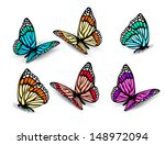 set of realistic colorful... | Shutterstock .eps vector #148972094