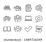set of business icons  such as... | Shutterstock .eps vector #1489726349