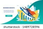 advertising flyer business... | Shutterstock .eps vector #1489728596