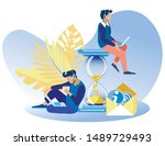 bright banner performing call... | Shutterstock .eps vector #1489729493