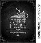 chalkboard   frame coffee menu   Shutterstock .eps vector #148972970