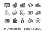 money and payment icons. cash ... | Shutterstock .eps vector #1489731800