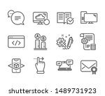 set of technology icons  such... | Shutterstock .eps vector #1489731923