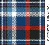 Plaid Pattern In Blue  Red ...