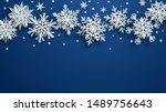 christmas illustration of white ... | Shutterstock . vector #1489756643