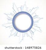 real estate city built house... | Shutterstock .eps vector #148975826