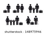 people travel icon   vector set | Shutterstock .eps vector #148975946