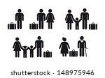 people travel icon   vector set | Shutterstock .eps vector #148975946