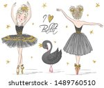 two hand drawn beautiful ... | Shutterstock .eps vector #1489760510