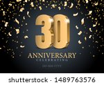 anniversary 30. gold 3d numbers.... | Shutterstock .eps vector #1489763576