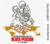 international day of older... | Shutterstock .eps vector #1489764740