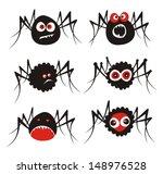 Spiders. Vector Illustration.