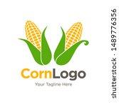ear of corn logo design. maize... | Shutterstock .eps vector #1489776356
