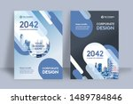 corporate book cover design... | Shutterstock .eps vector #1489784846