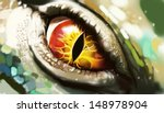 Digital Art Of Lizard Eyes.