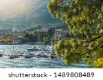 Azzano Comune Lake Como in Lombardy Region of Italy. Late Afternoon at the Lakefront Summer Scenery.  - stock photo