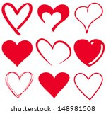 cute heart t shirt graphics | Shutterstock .eps vector #148981508