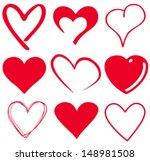 cute heart t shirt graphics | Shutterstock .eps vector #148981508