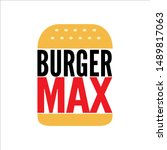 fast food burger logo icons ... | Shutterstock .eps vector #1489817063