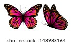 vector butterfly with hearts on ...