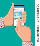 social network interface app on ...