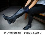 Equestrian Sport. Leather...