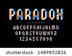 impossible shape style font... | Shutterstock .eps vector #1489852826