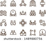 set of business people icons ... | Shutterstock .eps vector #1489880756