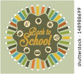 back to school poster | Shutterstock .eps vector #148988699