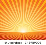 Abstract Sunset Vector...