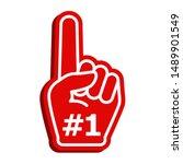 icon fan logo hand with finger... | Shutterstock .eps vector #1489901549