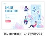 online education flat vector...