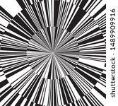 black and white star beams...   Shutterstock .eps vector #1489909916