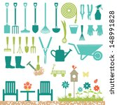 Garden Related Silhouette Icons