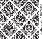 Stock vector seamless victorian pattern isolated on white 148992038