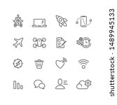 interface and app simple icons... | Shutterstock .eps vector #1489945133