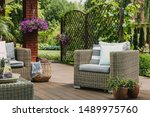 Comfy Wicker Armchair With...