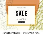 sale banner template design.... | Shutterstock .eps vector #1489985723