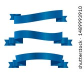 blue ribbons set.vector ribbon... | Shutterstock .eps vector #1489993910