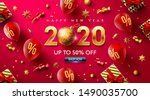 happy new year 2020 promotion... | Shutterstock .eps vector #1490035700