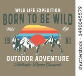 wild life expedition authentic...   Shutterstock .eps vector #1490045579