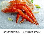Large Red Kamchatka Crab Claws...