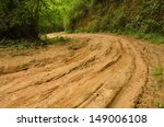 muddy dirt road at doi pha hom... | Shutterstock . vector #149006108