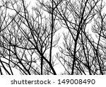 tree twigs silhouette  vector | Shutterstock .eps vector #149008490